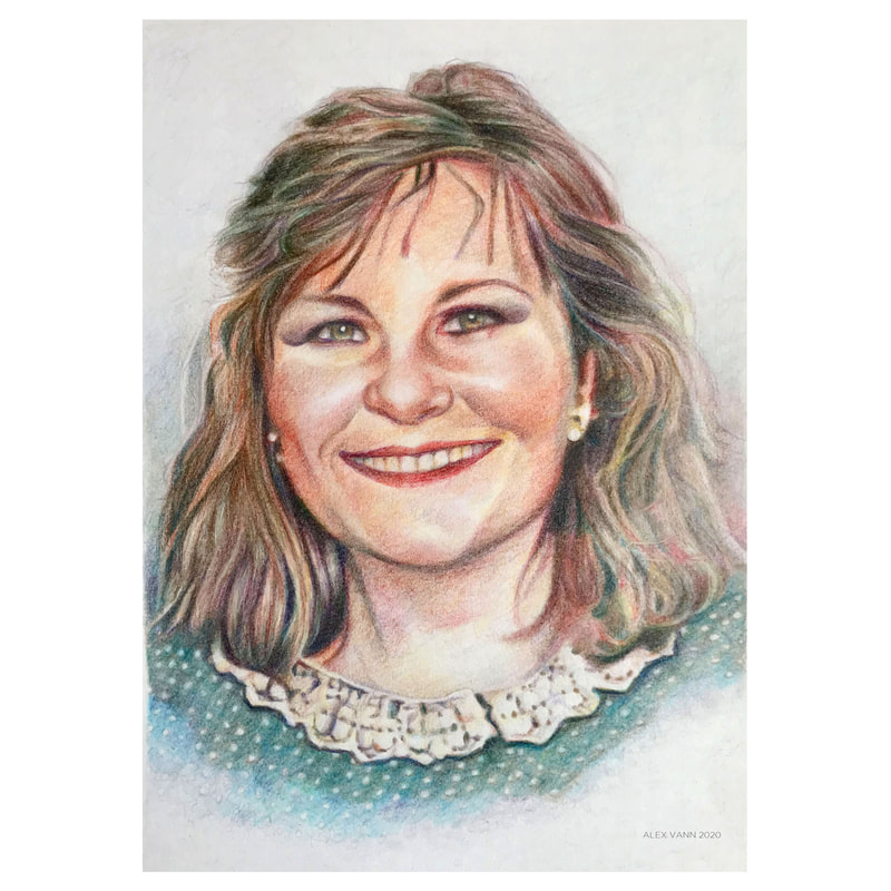 portrait drawing black country colour pencils pencil art