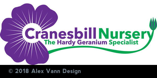 Cranesbill nursery logo by Alex Vann Design