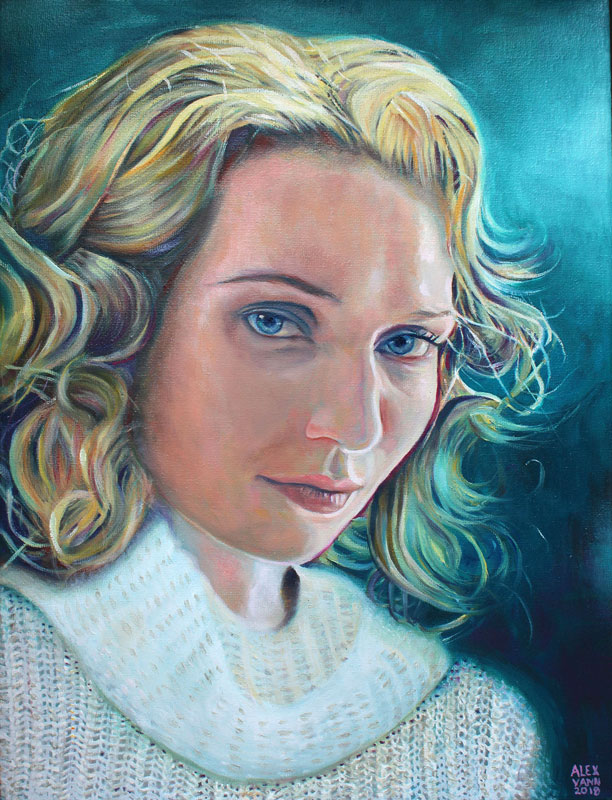 Oil painting portrait