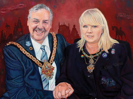 Mayor of Wolverhampton painting Alex Vann